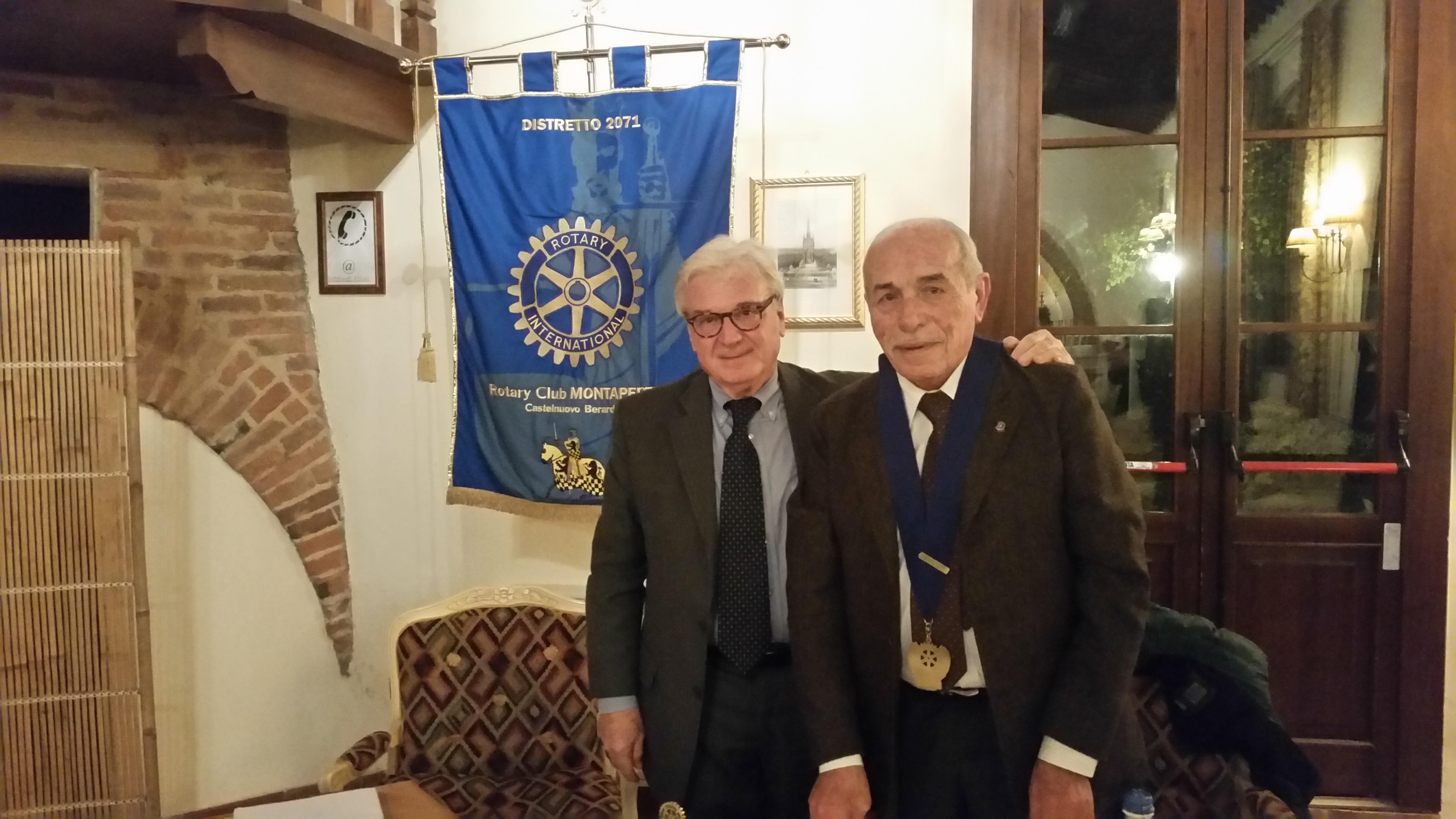 Il Presidente Sergio Mancini con l'Istruttore Vincenzo Santoro